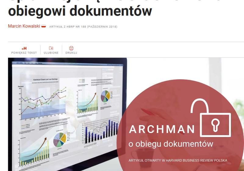 Artykuł otwarty w Harvard Business Review Polska