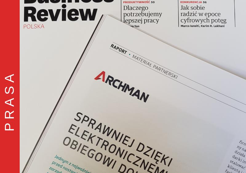 Artykuł firmy Archman w Harvard Business Review Polska