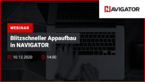 Blitzschneller Appaufbau in NAVIGATOR | Veranstaltungen Archman