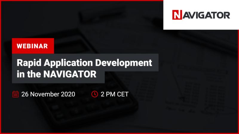 Rapid Application Development in NAVIGATOR | Events Blog