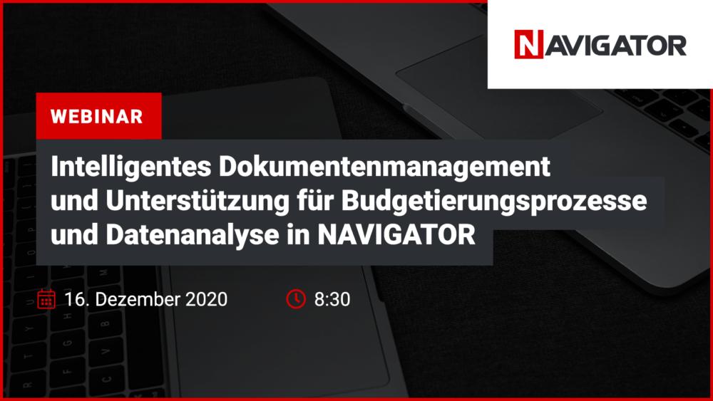 Intelligentes Dokumentationsmanagement und Unterstützung für Budgetierungs- und Datenanalyseprozesse in NAVIGATOR | Veranstaltungen Archman