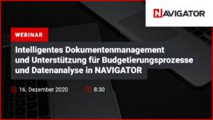 Intelligentes Dokumentationsmanagement und Unterstützung für Budgetierungs- und Datenanalyseprozesse in NAVIGATOR   Veranstaltungen Archman