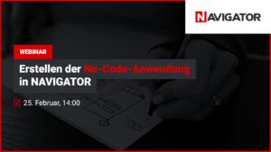 Erstellen der No-Code-Anwendung in NAVIGATOR | Archman Veranstaltungen