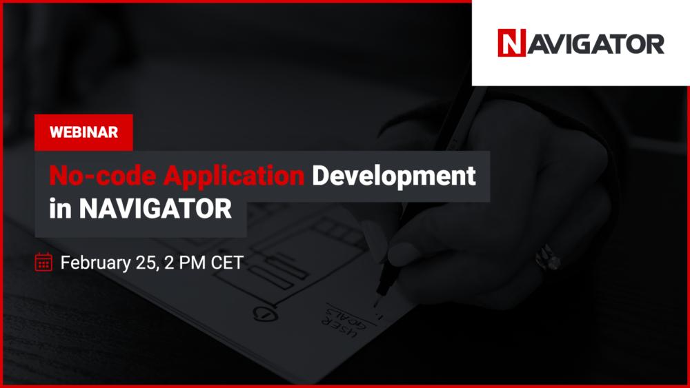 No-Code Application Development in NAVIGATOR | Archman Events